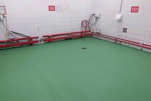 Фото устройства компанией Грас бетонного пола в автоцентре DAF