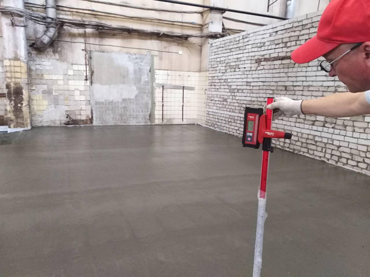3 Выравнивание бетона