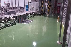 Устройство полимерного покрытия на пивоваренном производстве S= 1 200 м2