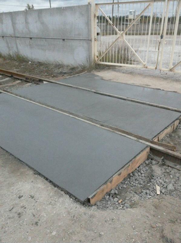 Железнодорожный переезд из бетона