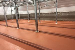 Устройство полимерного покрытия на мясоперерабатывающем производстве