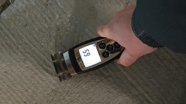 3 Измерение влажности бетона