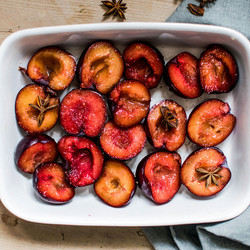 Peaches marinées