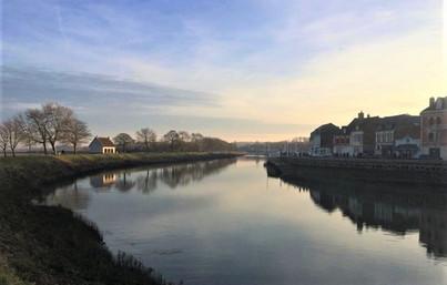 Lumière du matin sur le Canal de St Vale