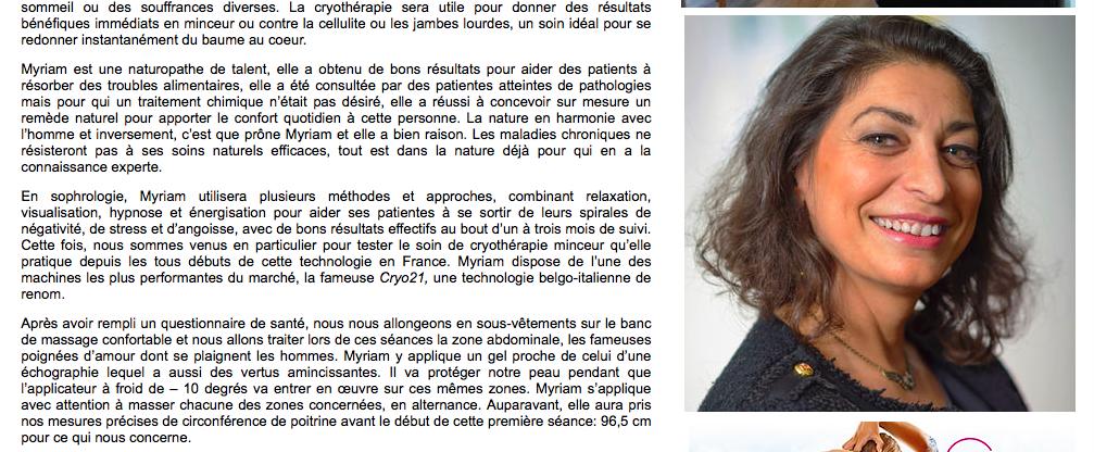 cryothérapie Paris 10