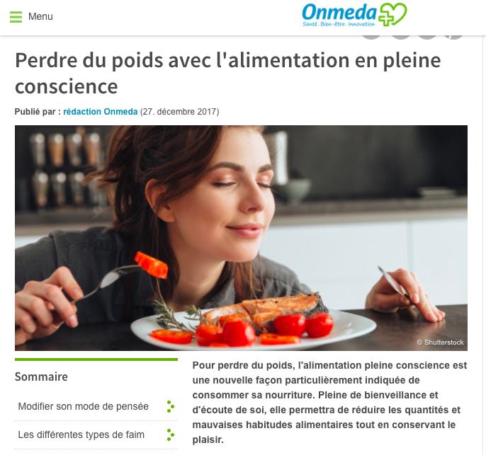Alimentation pleine conscience