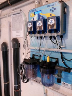 Traitement d'eau chlore et PH automa