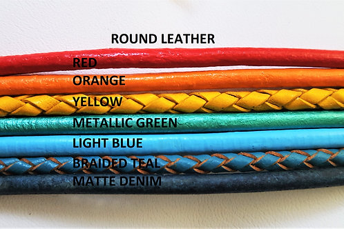 Design a 2, 3, 5 Strand Round Leather Bracelet
