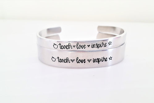 Cuff: Teach Love Inspire