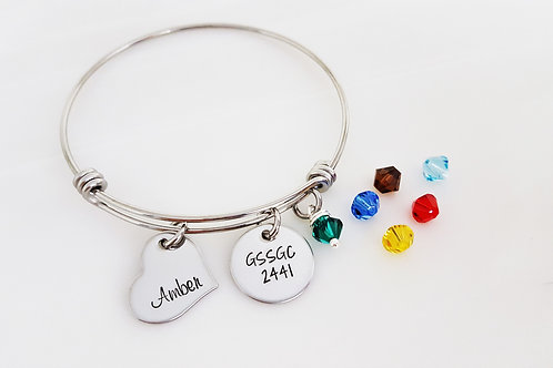 One Each: Charm, Name, & Stone