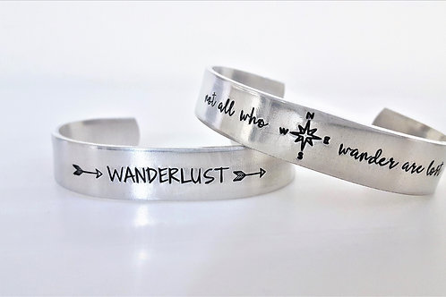 Wanderlust Stacker Cuffs 1/2""