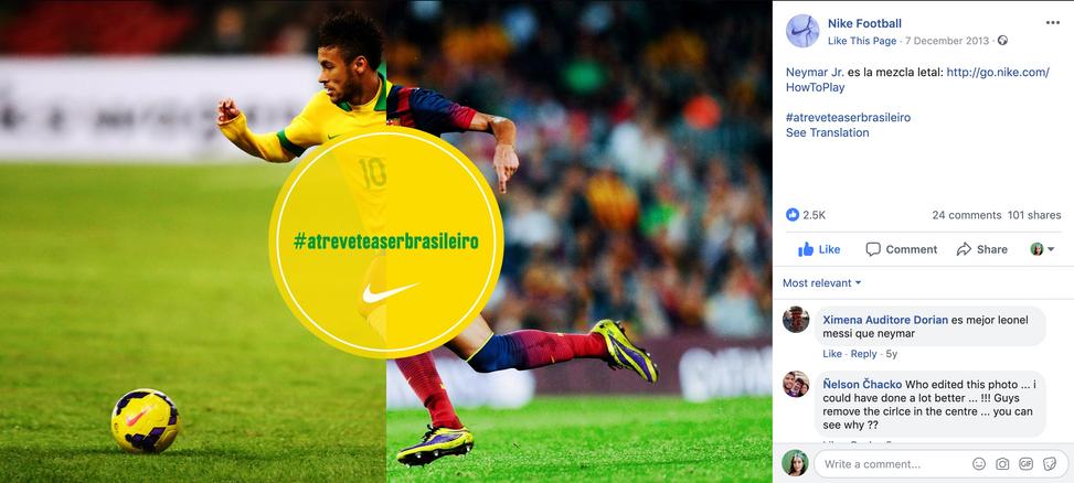 Nike Football - Atrévete a ser brasileño