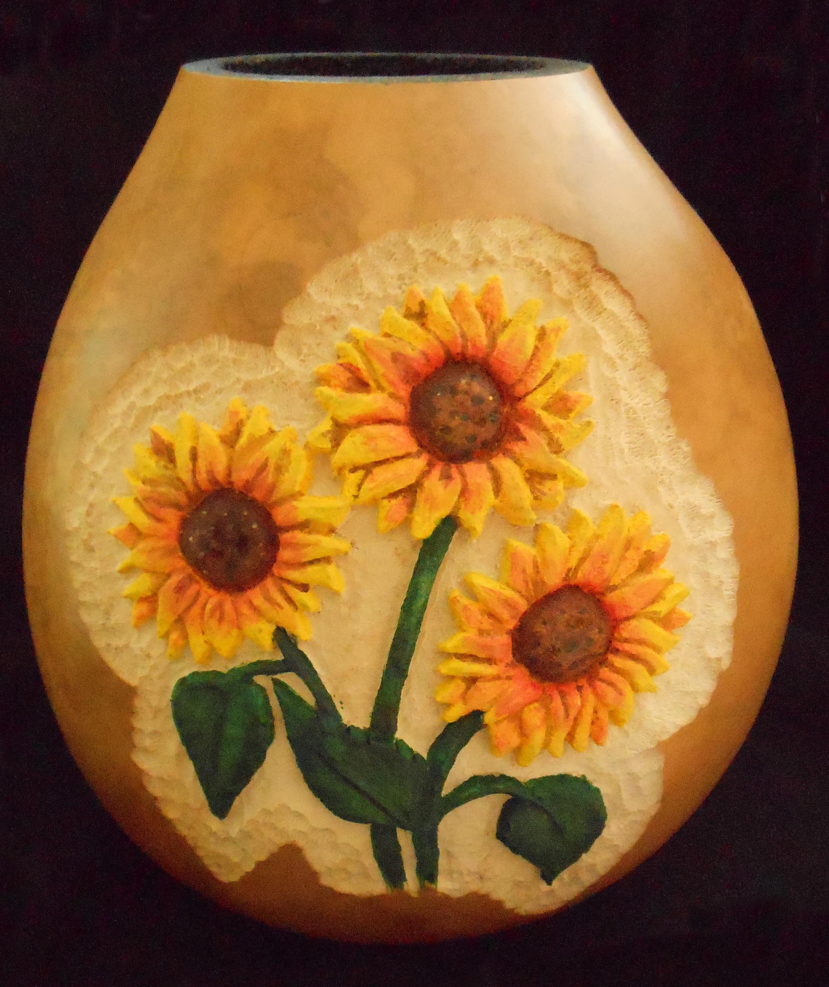 SunflowersCarved