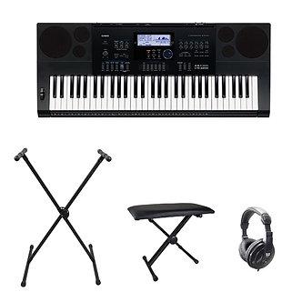 Casio CTK-6200 Keyboard w/ Bench, Stand & Headphones