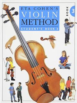 Eta Cohen - Violin Method Book 3