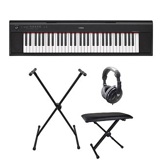 Yamaha Piaggero NP12 Keyboard Package - Black