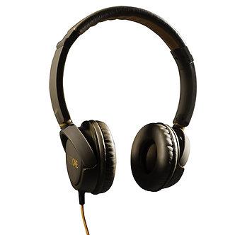 TGI AudioCAKE Premium Headphones with Mic - Brown/Orange