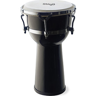 "Stagg 10"" Fibreglass Djembe Black"