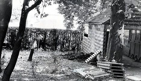 The garden where Margo Walls was murdered