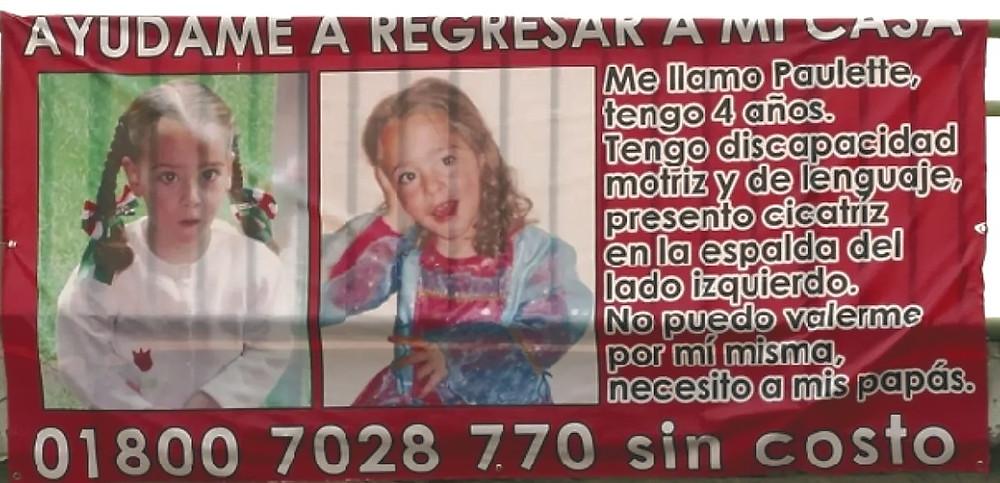 Poster for missing Paulette Gebara
