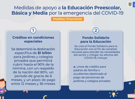 Medidas de apoyo a la educación