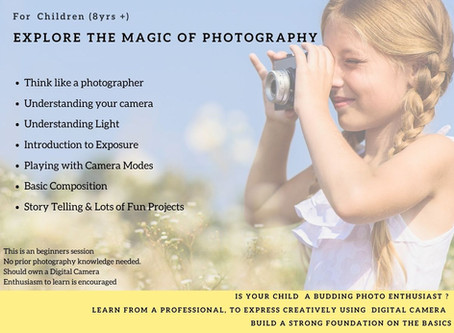 Current Sessions: Fun Photography Learning Webinar for Kids
