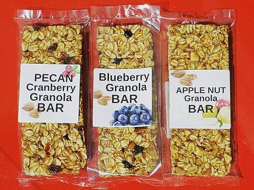 Apple, Blueberry or Cranberry Pecan Granola Bars