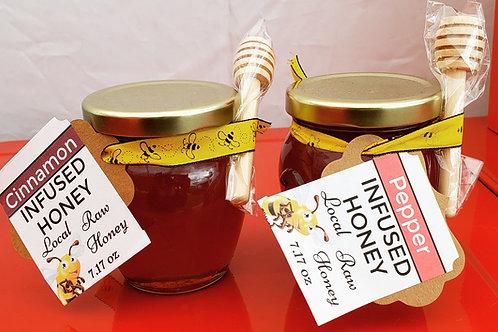 Infused Raw Arizona Honey Cinnamon or Hot Pepper