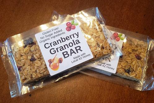Cranberry, Honey & Cinnamon Granola Bar