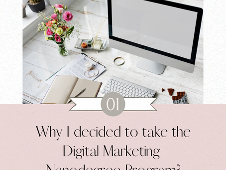 Why I decided to take the Digital Marketing Nanodegree Program?