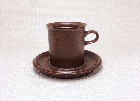 ARABIA アラビア Ruska ルスカ コーヒー カップ&ソーサー