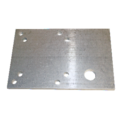 Mounting Plate,Wrap Brush Reducer 920MWT(630-1029)