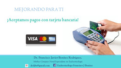 Aceptamos tarjetas bancarias