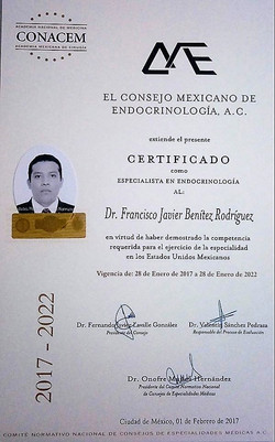 Médico certificado Dr. Benitez.
