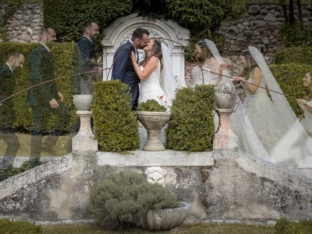 Matrimonio a Costermano. Servizio fotografico alle pendici del Monte Baldo.