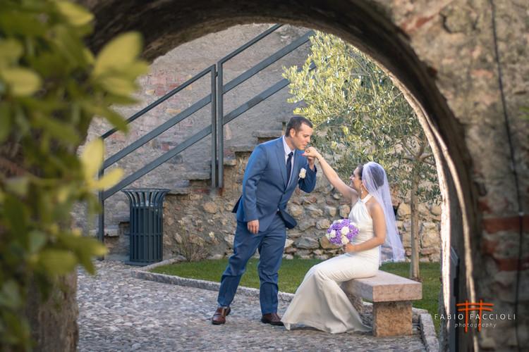 Fotoshooting in der Burg von Malcesine