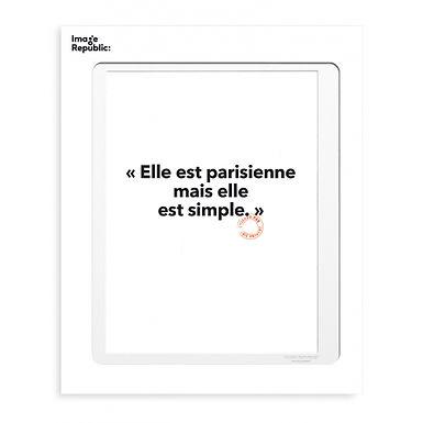 Tirage LOÏC PRIGENT ELLE EST PARISIENNE... 30x40 cm