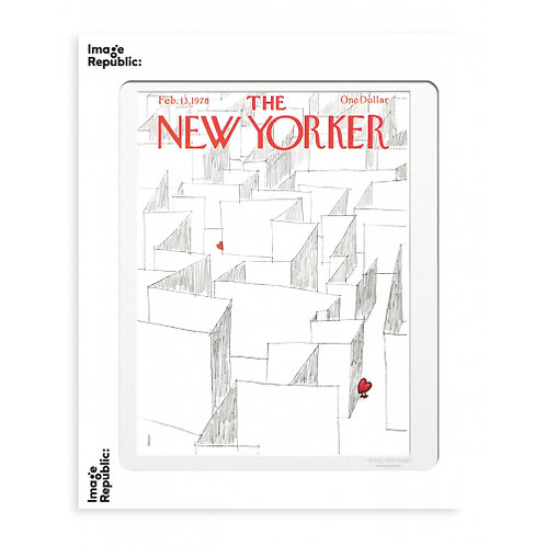 Tirage THE NEW YORKER LABYRINTH OF HEARTS 40x50 cm