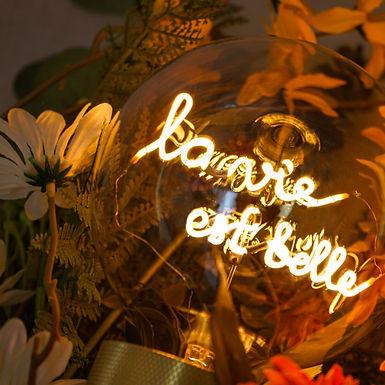 Ampoule LA VIE EST BELLE
