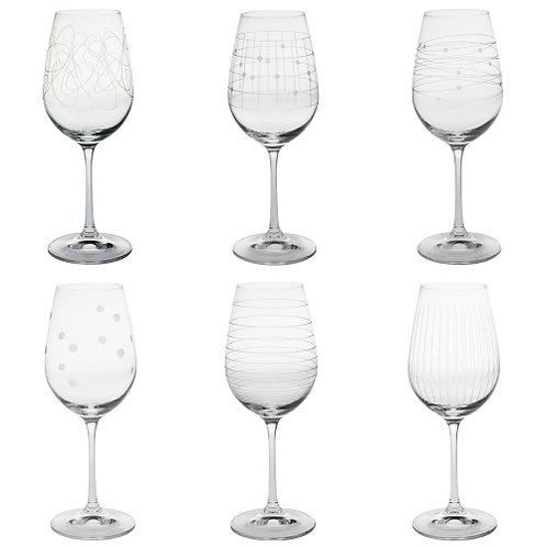 Ensemble 6 verres à vin GRAPHIK