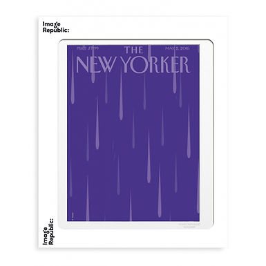 Tirage THE NEW YORKER PURPLE RAIN 40x50 cm