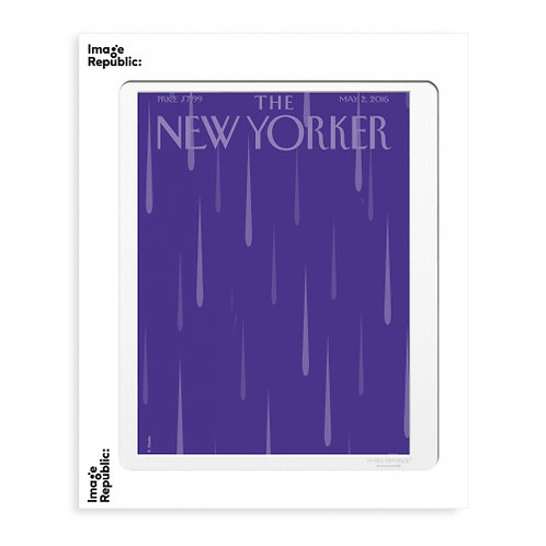 Tirage THE NEW YORKER PURPLE RAIN 40x50 cm