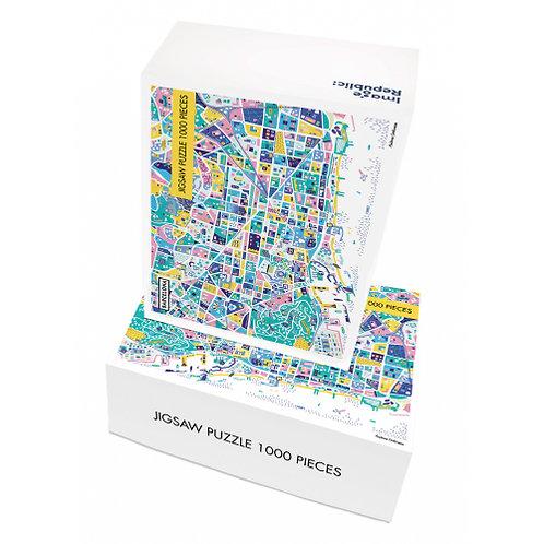 Puzzle ANTOINE CORBINEAU BARCELONE 1000 pièces