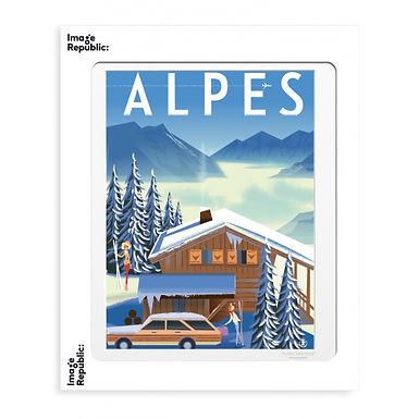 Tirage MONSIEUR Z ALPES CHALET 40x50 cm