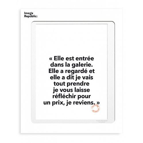 Tirage LOÏC PRIGENT DANS LA GALERIE... 30x40 cm