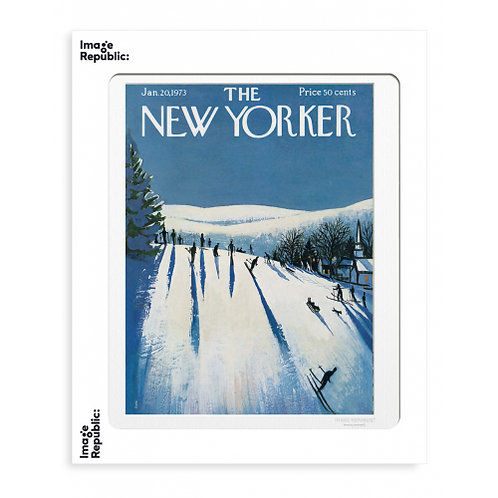 Tirage THE NEW YORKER SKIERS MAKE THEIR WAY 40x50 cm