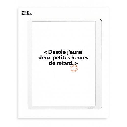 Tirage LOÏC PRIGENT DESOLE J'AURAI DEUX PETITES... 30x40 cm