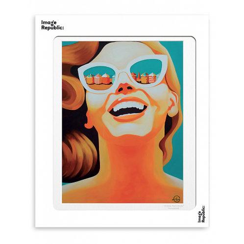 Tirage EMILIE ARNOUX REINE DES PLAGES 40x50 cm