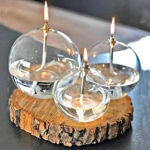 Lampe à huile sphérique