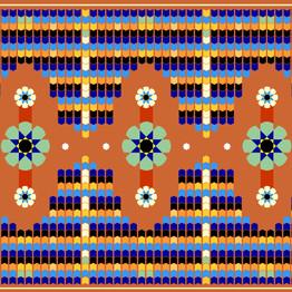 Arabic tile pattern stock illustration